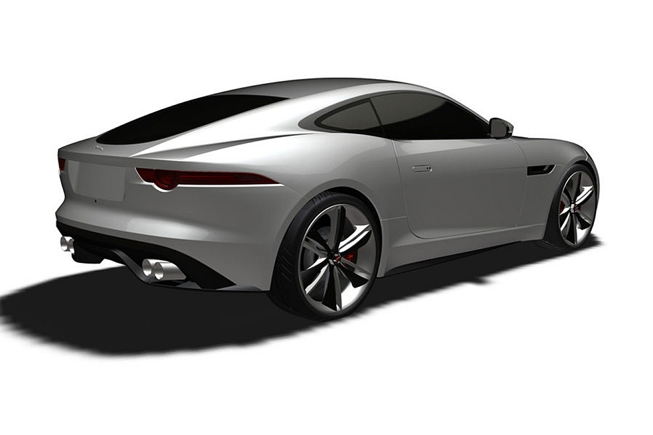 Jaguar F-Type Coupe Photo Rendering Rear 3-4 Right