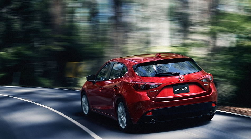 2014 Mazda3 Rear 3-4 Left Cornering
