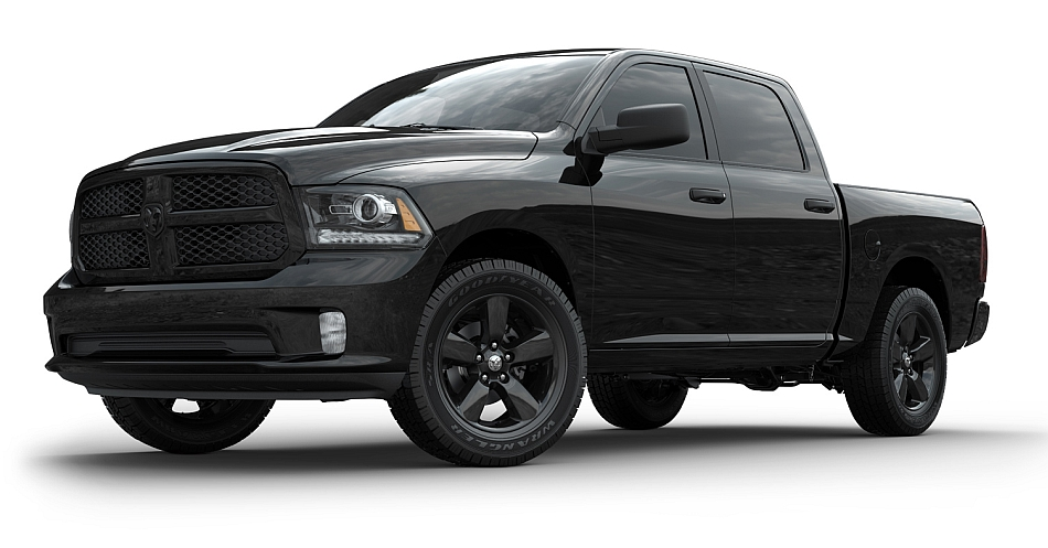 2013 Ram 1500 Black Express Front 3-4 Left