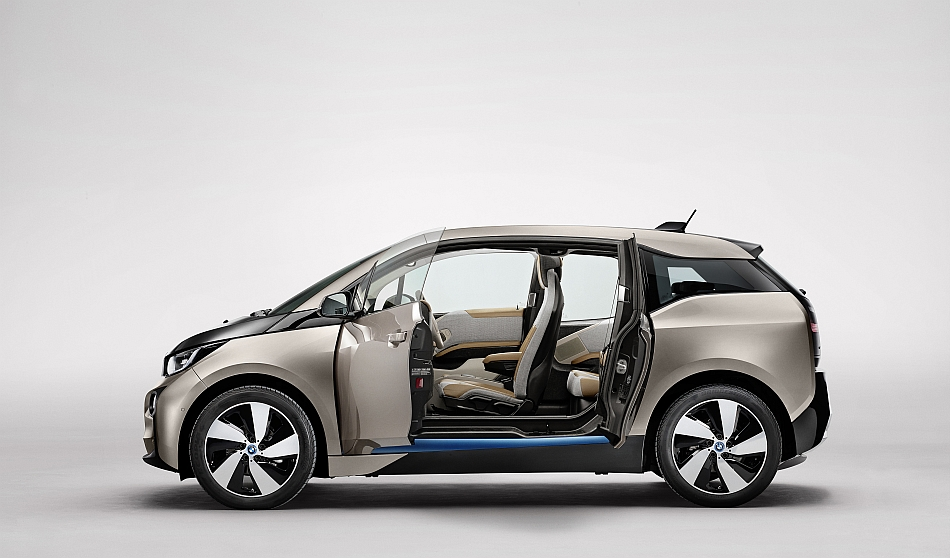 2014 BMW i3 Left Side Doors Ajar Studio
