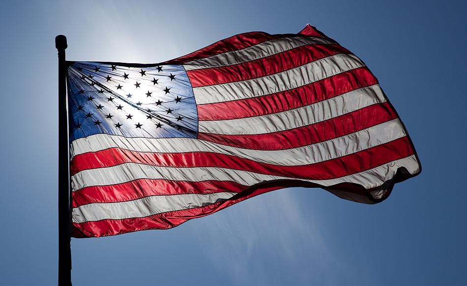 US Flag Backlit