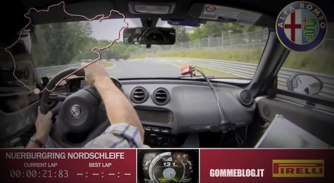 2014 Alfa Romeo 4C on Nurburgring