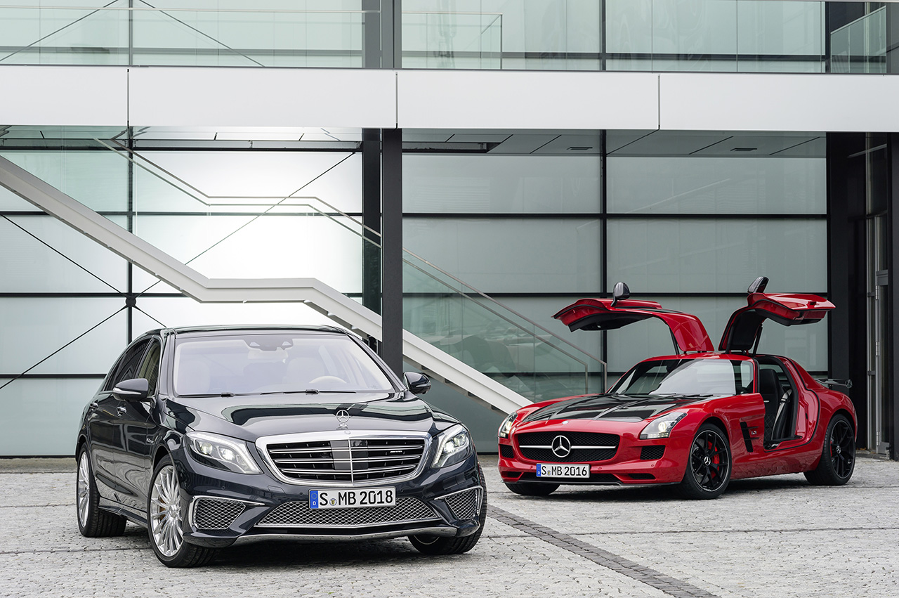 2014 Mercedes-Benz S65 AMG with SLS AMG GT Final Edition