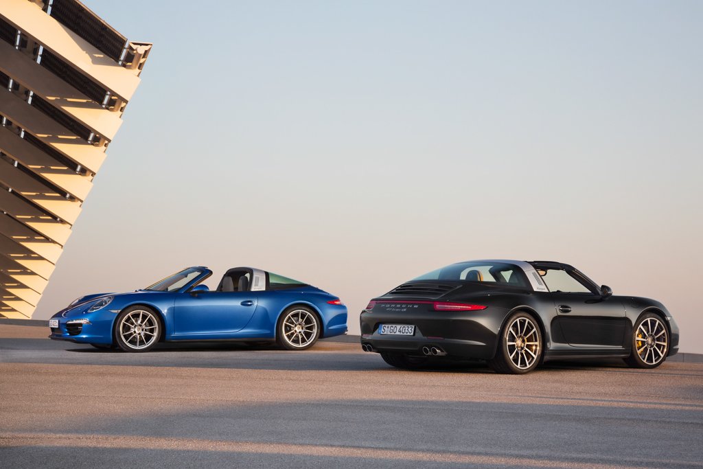 2014 Porsche 911 Targa 4 and 4S