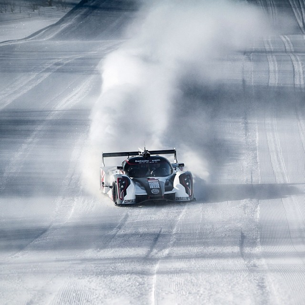 Jon Olsson's Rebellion R2K drifting in the snow
