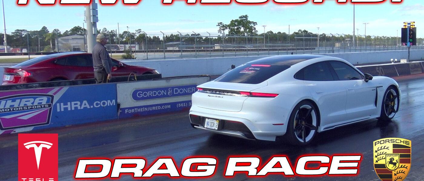 DRAG RACE – Porsche Taycan Turbo S vs Tesla Model S Performance