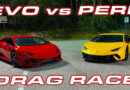 Lamborghini EVO takes on the Performante in a Drag Race