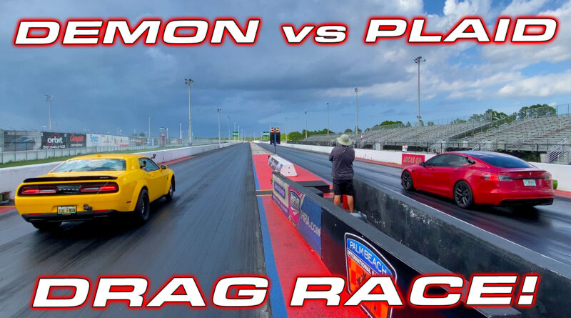 Dodge Demon vs Tesla Plaid